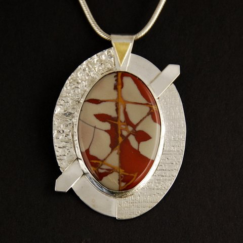 pendant with Noreen Jasper cabochon