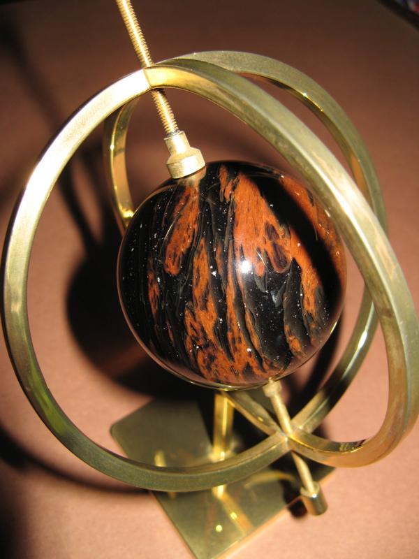 sphere of mahogany obsidian